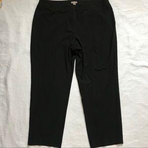 J. Jill 16 petite black dress trousers tapered leg